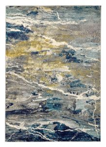 Elssa Abstract Rugs By Concept Loom ELS02 in Grey Multi