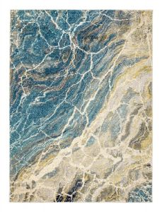 Elssa Abstract Marble Rugs By Concept Loom ELS08 in Seafoam Blue