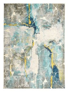 Elssa Abstract Rugs By Concept Loom ELS10 in Frost Blue