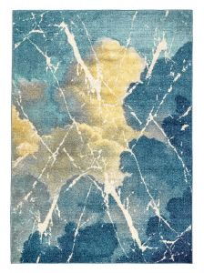 Elssa Abstract Rugs By Concept Loom ELS16 in Cloud Blue