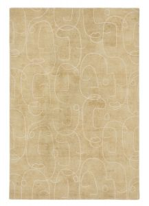Epsilon Contemporary Face Wool Rugs by Scion in 023806 Honey