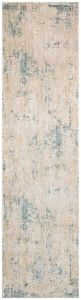 Essence Distressed Abstract ESSC04 Runner Rugs in Gold Teal