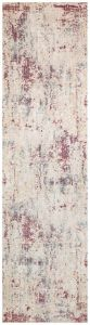Essence Distressed Abstract ESSC05 Runner Rugs in Multicolour