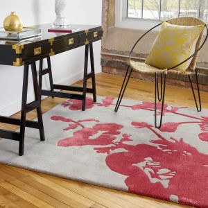 Floral 300 Rugs 039600 in Poppy by Florence Broadhurst