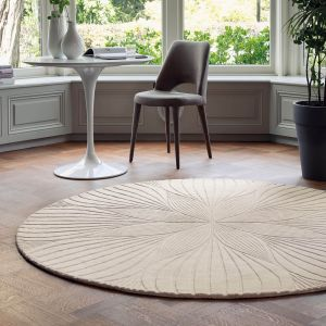 Folia Round Circle Modern Floral Rugs 38301 by Wedgwood