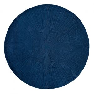 Folia Round Circle Modern Floral Rugs 38308 by Wedgwood