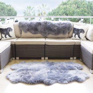 Genuine Sheepskin Animal Fur Rugs in Grey