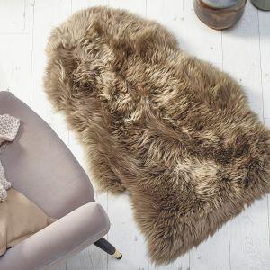 Genuine Sheepskin Khaki Rug