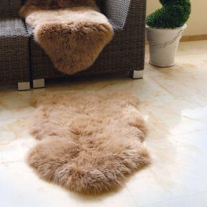Genuine Sheepskin Animal Fur Rugs in Mink