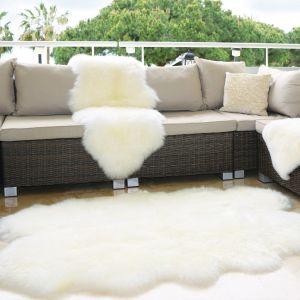 Genuine Sheepskin Animal Fur Rugs in Natural