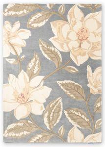 Grandiflora Floral Wool Rugs By Sanderson in Grey