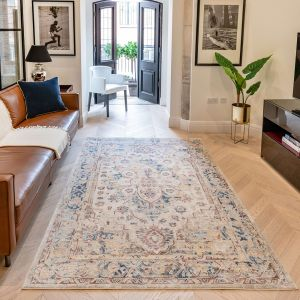 Heritage Traditional Medallion HRTG101 Rugs in Ivory Multi