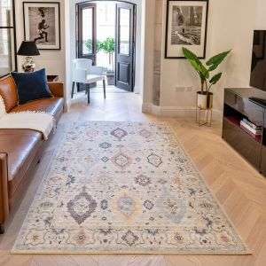 Heritage Traditional Medallion HRTG102 Rugs in Ivory Multi