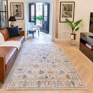 Heritage Traditional Floral HRTG103 Rugs in Ivory Multi