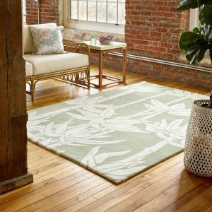 Japanese Bamboo Rugs 039507 in Jade by Florence Broadhurst