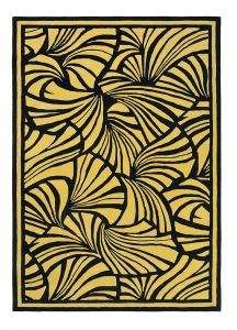 Japanese Fans Rugs 039305 in Gold by Florence Broadhurst