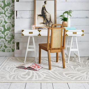 Japanese Fans Rugs 039301 in Ivory by Florence Broadhurst