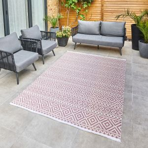 Jazz Jaz05 Indoor Outdoor Rugs in Rose Pink