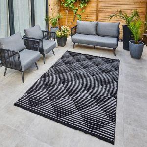 Jazz Jaz09 Indoor Outdoor Geometric Rugs in Grey