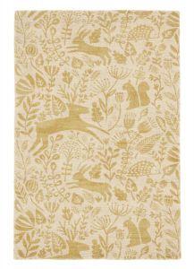 Kelda Woodland Rugs by Scion in 023506 Honey Yellow