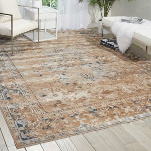Malta Traditional Border Rugs MAI05 by Kathy Ireland in Taupe