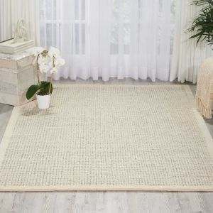 River Brook Rugs KI809 by Kathy Ireland in Ivory and Grey