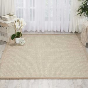 River Brook Rugs KI809 by Kathy Ireland in Taupe and Ivory