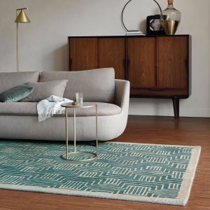 Kinmo Rugs 56807 by Ted Baker in Green