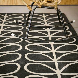 Linear Stem Rugs 60505 in Slate by Orla Kiely