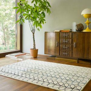 Linear Stem Ombre Wool Rugs 061107 in Basil By Orla Kiely