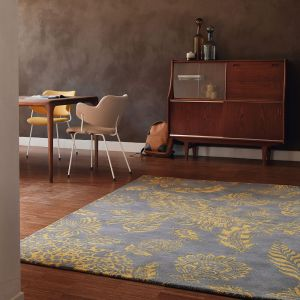 Loran Rugs 56306 by Ted Baker in Yellow