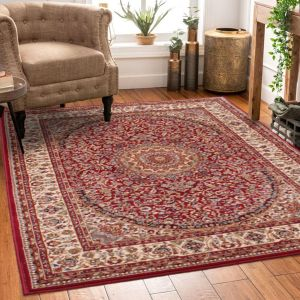 Madras 4626 Traditional Bordered Rugs in Red