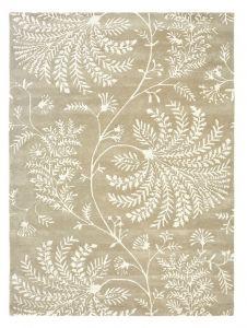Mapperton Modern Leaf Rugs in Linen 45901 by Sanderson