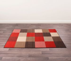 Pixels Rugs in Choco Coral by Rugstyle