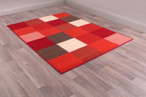 Pixels Rugs in Red by Rugstyle