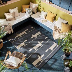 Scion Mr Fox Indoor Outdoor Rugs 425305 Charcoal Grey