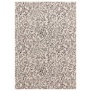 Muse MU11 Abstract Spotty Woven Rugs in Black Cream