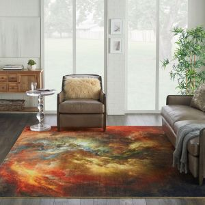 Le Reve Rugs LER07 in red multicolour by Nourison