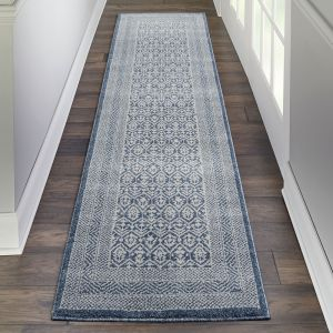 Palermo Runners PMR01 in blue grey by Nourison