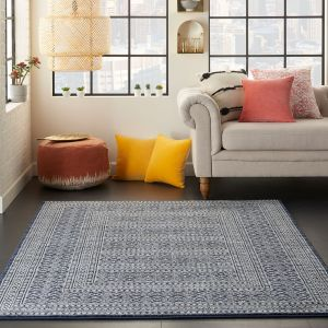 Palermo Rugs PMR04 in navy grey by Nourison