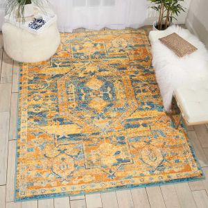 Passion Rugs PSN07 in Teal and Sun