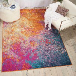 Passion PSN10 Abstract Modern Rugs in Sunburst Multicolour