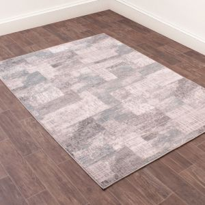 Spectrum Modern Abstract Rug in Blue