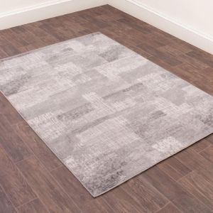Spectrum Modern Abstract Rug in Grey