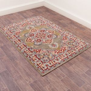Orient Rugs in 8917 Green by URCO