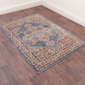 Orient Rugs in 8917 Navy by URCO