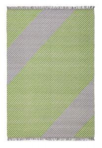 Oslo OSL701 Wool Stripe Rugs in Lime Green