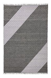 Oslo OSL701 Wool Stripe Rugs in Onyx Grey