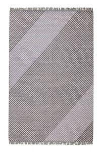 Oslo OSL701 Wool Stripe Rugs in Steel Grey