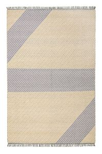 Oslo OSL702 Wool Geometric Stripe Rugs in Lemon Yellow